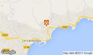 Kaart Le Lavandou Studio 26193