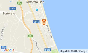 Kaart Tortoreto Appartement 77121