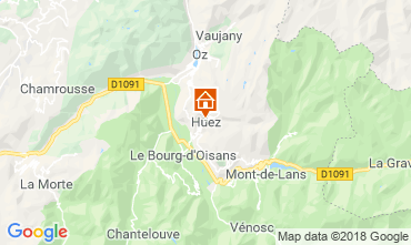 Kaart Alpe d'Huez Huis 117000