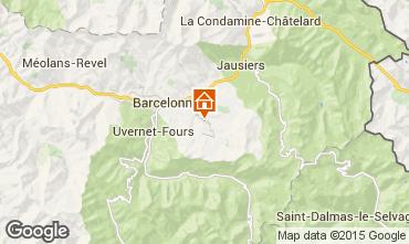 Kaart Le Sauze Appartement 58808