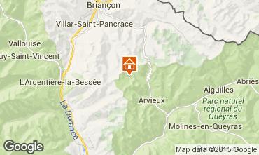 Kaart Arvieux en Queyras Chalet 79860