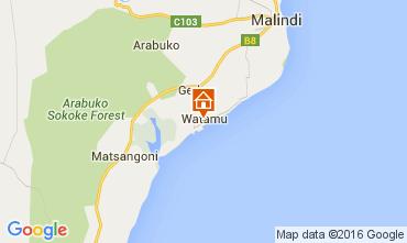 Kaart Watamu Bungalow 105905