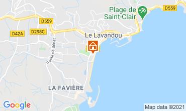 Kaart Le Lavandou Appartement 86346