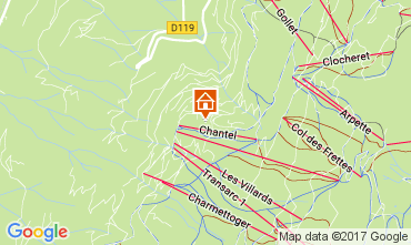 Kaart Les Arcs Appartement 111955