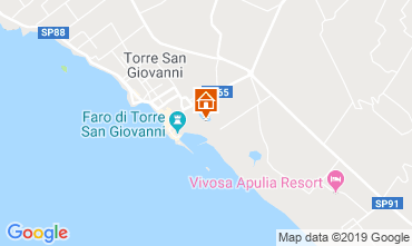 Kaart Ugento - Torre San Giovanni Appartement 118359