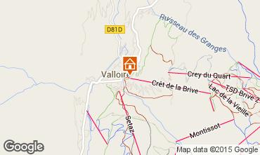 Kaart Valloire Appartement 63869