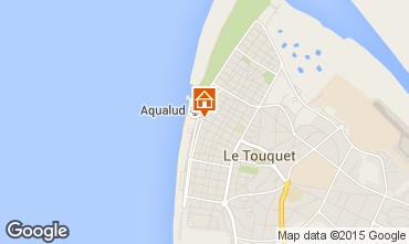 Kaart Le Touquet Appartement 40906